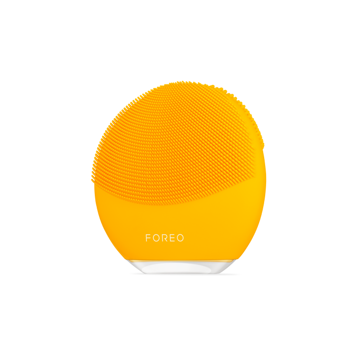 FOREO_LUNAmini3_Yellow_Angle_Transparent_Shadow.png